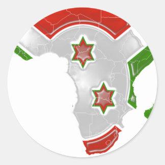Le Burundi Autocollants Ronds
