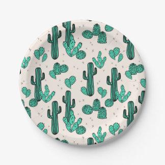 Le cactus/cactus verdissent le tropique assiettes en papier