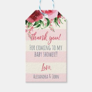 Le cadeau de baby shower étiquette floral