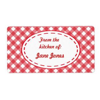 Le cadeau de cuisine de guingan étiquette des