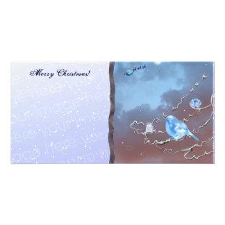 Le cadeau de l'oiseau bleu ! photocarte personnalisée