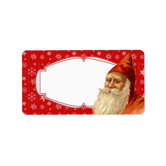 Le cadeau de Noël de Père Noël de flocon de neige Étiquettes D'adresse