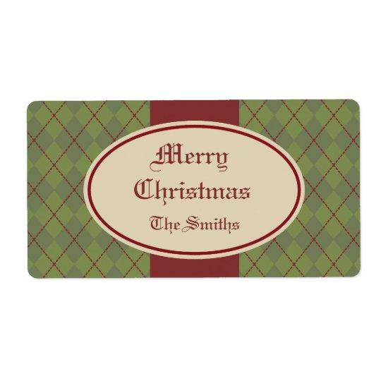 Le cadeau de Noël personnalisé par cru étiquette