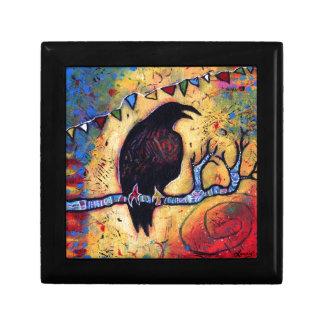 Le cadeau de Raven Petite Boîte À Bijoux Carrée