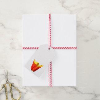 Le cadeau de tulipe étiquette des ailes du feu de