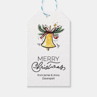 Le cadeau fait sur commande de Noël étiquette