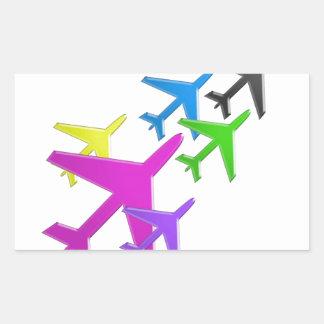 Le cadeaux d'AVION versent le d'avion de flotte Autocollant En Rectangle
