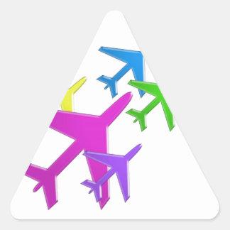 Le cadeaux d'AVION versent le d'avion de flotte d' Stickers En Triangle