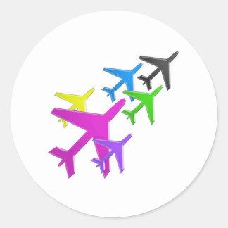 le cadeaux de d'avion de flotte versent l'AVION Sticker Rond
