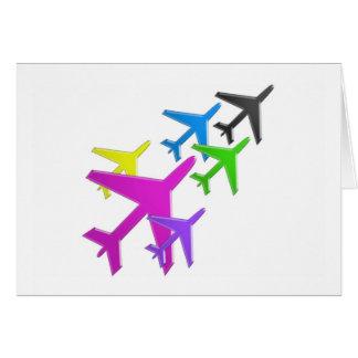 le cadeaux de d'avion de flotte versent l'AVION Carte De Vœux