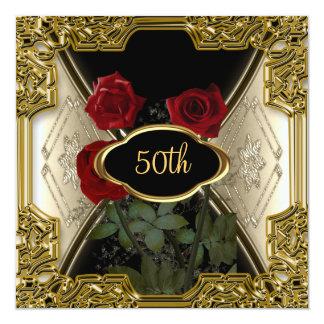 Le cadre d'or fleurit la belle invitation