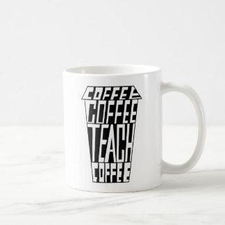 Le CAFÉ de CAFÉ ENSEIGNENT la tasse de 11 onces du
