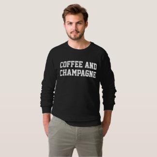 Le café des hommes et sweatshirt noir de Champagne