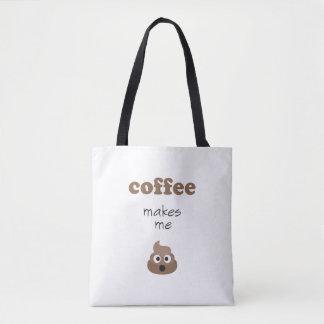 Le café drôle me fait l'expression d'emoji de sac