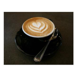 Le café est amour - carte postale
