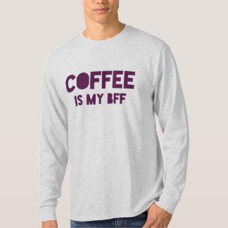 """Le """"café est déclaration fraîche drôle de mon BFF"""" T-shirt"""