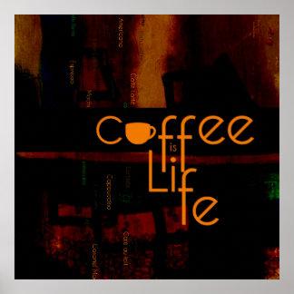 Le café est la vie affiches