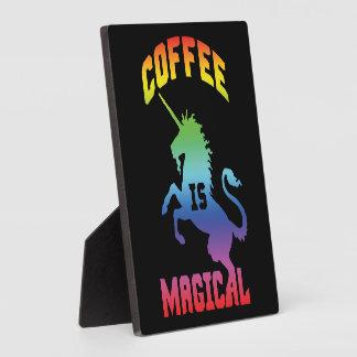 Le café est magique - licorne drôle de caféine de plaque photo
