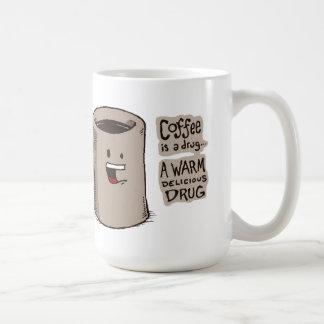 Le café est une tasse de drogue