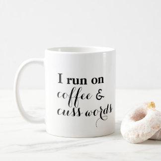 Le café et jurent des mots mug
