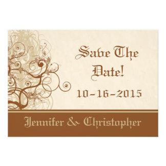 Le café et la crème sauvent les cartes de date invitations