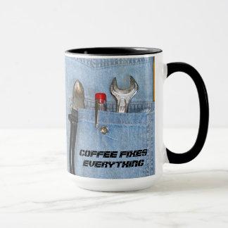 Le café fixe tout tasses