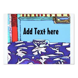 Le Cafe Matisse, ajoutent le texte ici Carton D'invitation 12,7 Cm X 17,78 Cm