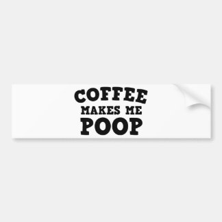 Le café me fait la dunette autocollant pour voiture