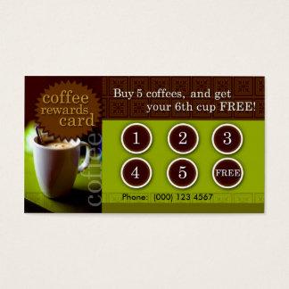Le café récompense la carte
