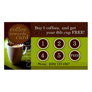Le café récompense la carte carte de visite standard