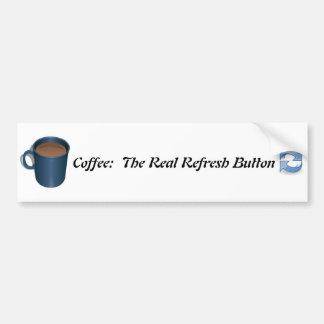 Le café régénèrent l'adhésif pour pare-chocs autocollant de voiture