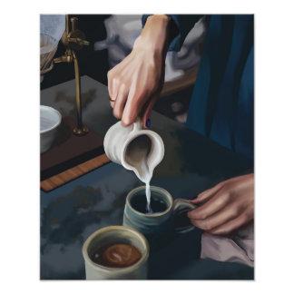 Le café se renversent impression photo