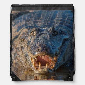 Le Caiman montre ses dents, Brésil Sacs Avec Cordons