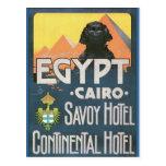 Le Caire Egypte - art vintage d'affiche de voyage Carte Postale