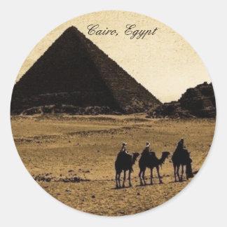 Le Caire, Egypte Sticker Rond