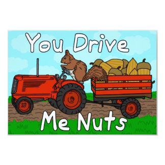 Le calembour drôle d'écureuil de Saint-Valentin Carton D'invitation 8,89 Cm X 12,70 Cm