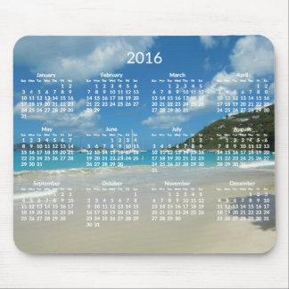 Le calendrier annuel de plage Mousepads 2016 Tapis De Souris