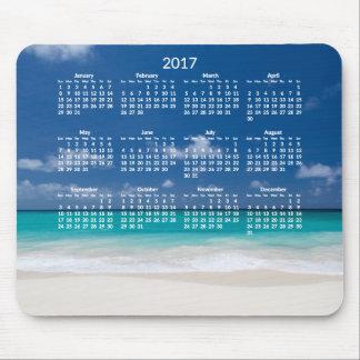 Le calendrier annuel de plage Mousepads 2017 Tapis De Souris