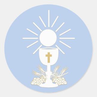 Le calice de communion, choisissent la couleur sticker rond