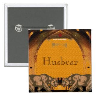 Le Californien soutient l'insigne de Husbear du Badge Carré 5 Cm