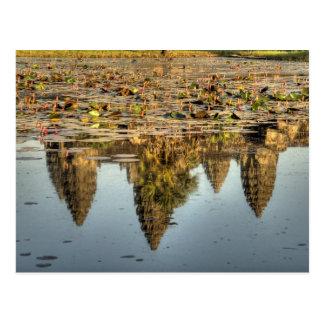 Le Cambodge, Angkor Vat. Réflexion de temple Carte Postale