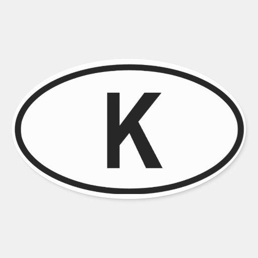 "Le Cambodge ""K "" Autocollants Ovales"