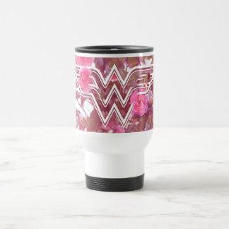Le camélia de rose de femme de merveille fleurit mug de voyage