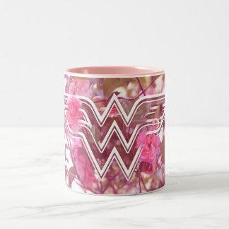Le camélia de rose de femme de merveille fleurit tasse 2 couleurs