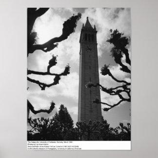 Le campanile, Uc Berkeley, 1965 Poster
