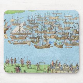 Le campement des forces anglaises tapis de souris
