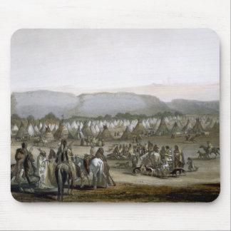 Le campement des Indiens de Piekann, plaquent 43 d Tapis De Souris