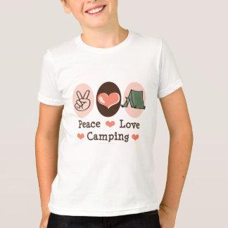 Le camping d'amour de paix badine le T-shirt