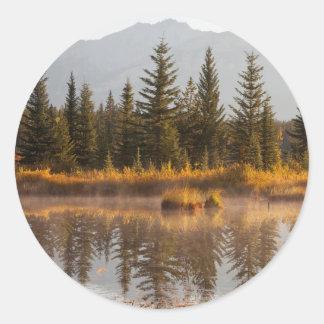 Le Canada, Alberta, parc national de jaspe Sticker Rond