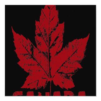 Le Canada Canada frais personnalisé par Carton D'invitation 13,33 Cm